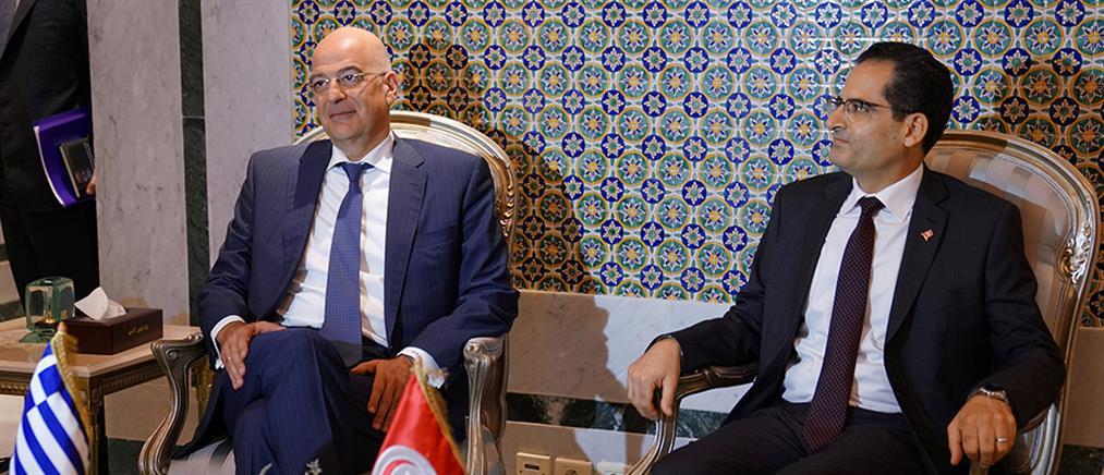 Δένδιας από Τυνησία: Η εμπλοκή της Τουρκίας στη Λιβύη αποσταθεροποιεί την περιοχή