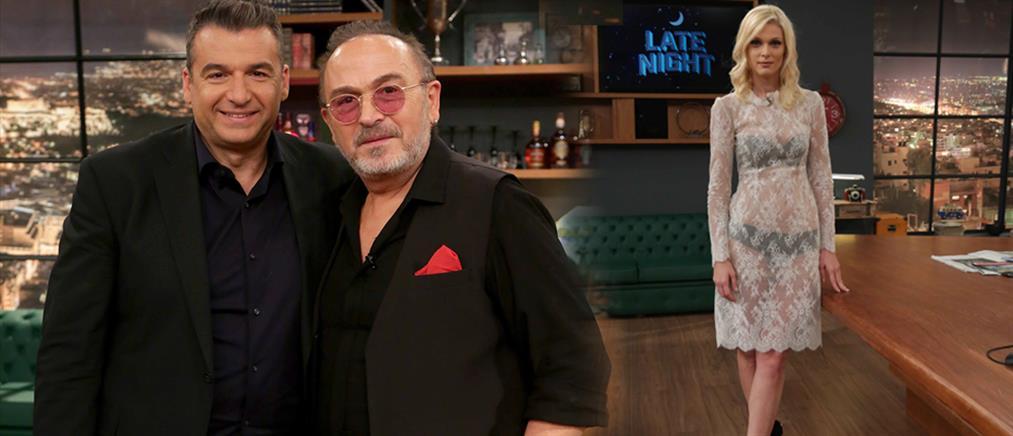 """Ο Γιώργος Λιάγκας υποδέχεται τον Σταμάτη Γονίδη στο """"Late Night"""""""