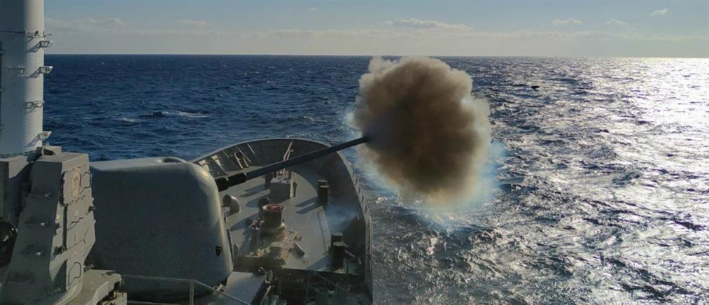 Πολεμικό Ναυτικό: Καταιγισμός πυρών σε Μυρτώο και Κρητικό πέλαγος (βίντεο)