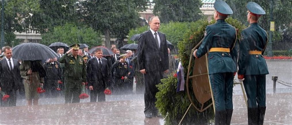 Ο Πούτιν τη βροχή δεν τη φοβάται (βίντεο)