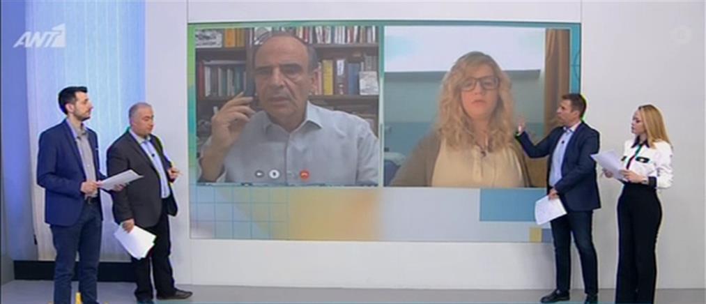 """Σπαντιδέας στον ΑΝΤ1: βάσιμη η """"ικανοποίηση"""" από την πορεία της επιδημίας στην Ελλάδα (βίντεο)"""