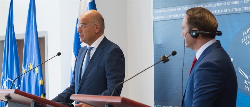 """Συμφωνία των Πρεσπών - Δένδιας προς Σκόπια: πιστή τήρηση, αλλιώς """"ξεχάστε"""" την ΕΕ"""
