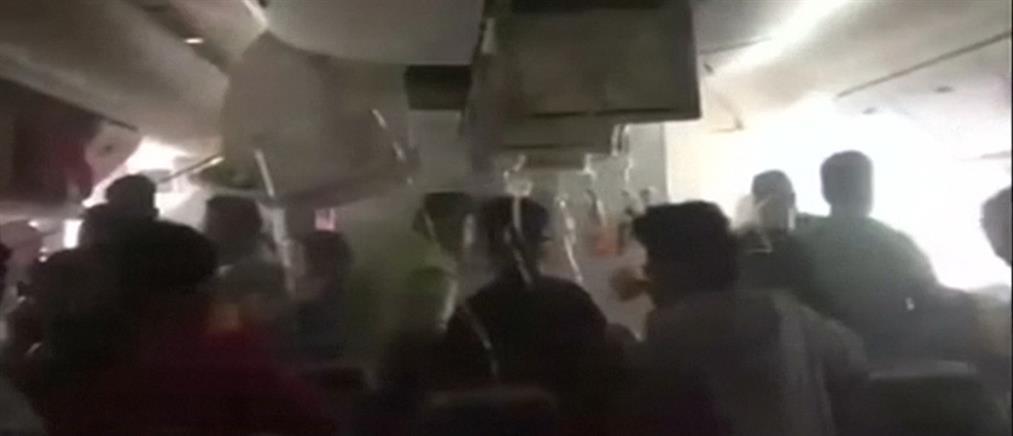 Χάος και πανικός στο εσωτερικό του φλεγόμενου Boeing της Emirates (βίντεο)