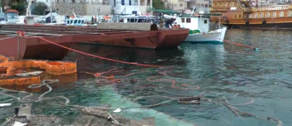 Βυθίστηκε φορτηγό πλοίο στην Κάλυμνο