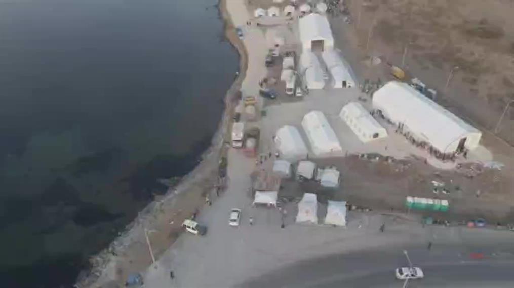 Βίντεο από τη δομή που στήθηκε μέσα σε λίγες μέρες στο Καρά Τεπέ