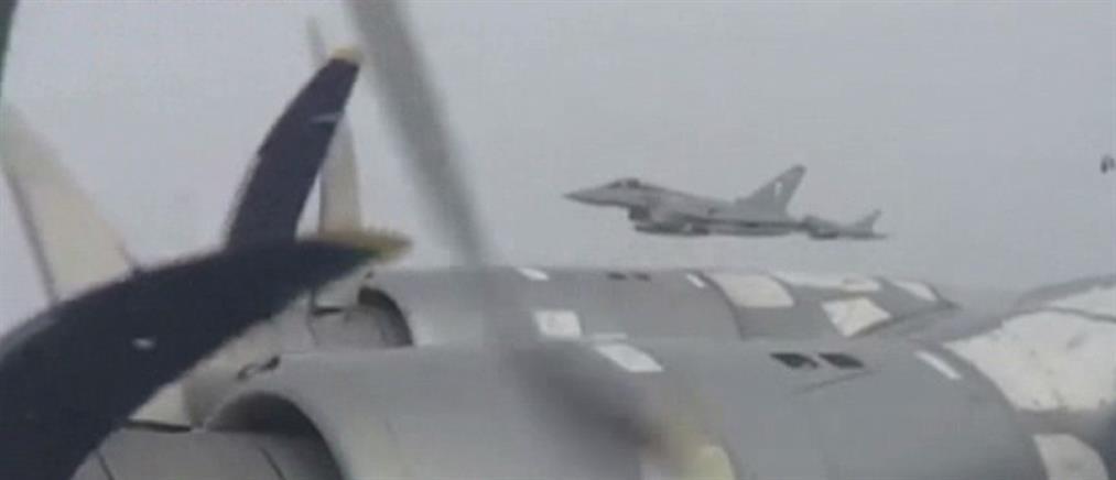 Βίντεο: Μέσα σε ρωσικό βομβαρδιστικό που αναχαιτίζουν ΝΑΤΟ και RAF