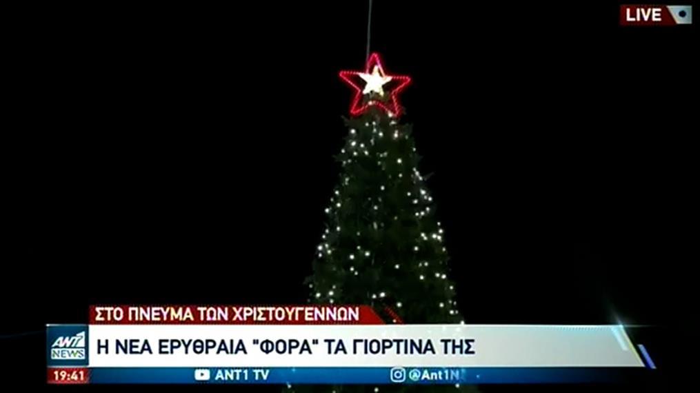 Φωταγώγηση του Χριστουγεννιάτικου Δέντρου στην Νέα Ερυθραία