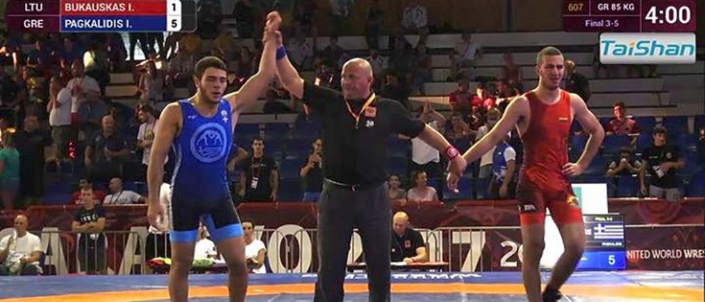 Χάλκινο μετάλλιο για τον Παγκαλίδη στο Ευρωπαϊκό Πρωτάθλημα Παίδων