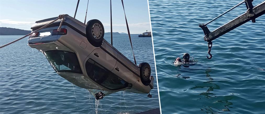 """Αστακός: Πρωτοχρονιάτικη """"βουτιά"""" ΙΧ στο λιμάνι (εικόνες)"""