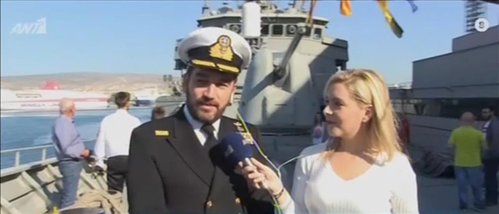 """Οι """"Πρωινοί Τύποι"""" στην φρεγάτα """"ΥΔΡΑ"""" του Πολεμικού Ναυτικού (βίντεο)"""