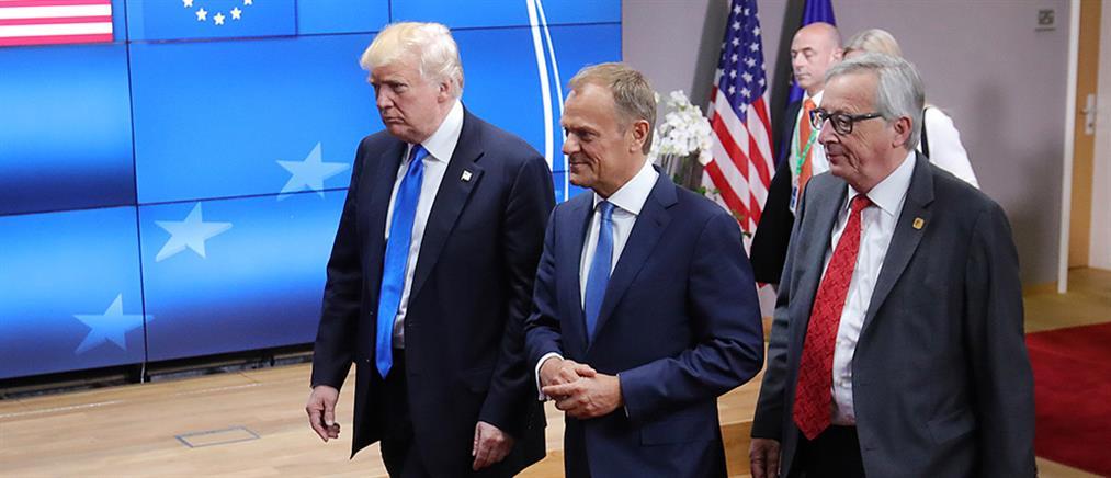 """Σύνοδος ΝΑΤΟ: """"καρφιά"""", διαδηλώσεις αλλά και """"επιθέσεις"""" φιλίας για Τραμπ"""