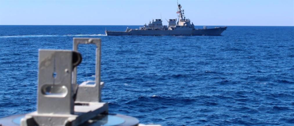 Κρήτη: Συνεκπαίδευση στρατιωτικών μονάδων με πλοίο των ΗΠΑ (εικόνες)