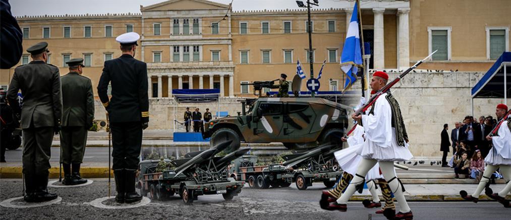 25η Μαρτίου: Με λαμπρότητα η στρατιωτική παρέλαση (φωτό)