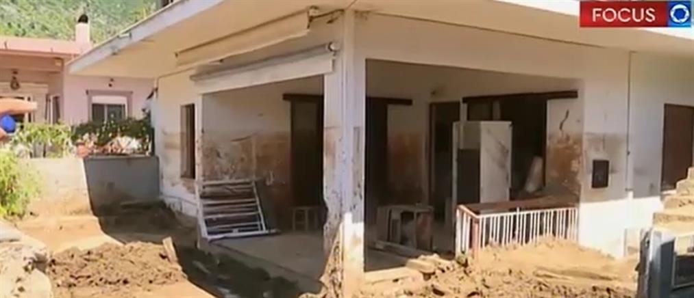 """Οδοιπορικό του ΑΝΤ1 στην Εύβοια: τεράστιες οι """"πληγές"""" απο την φονική πλημμύρα (βίντεο)"""