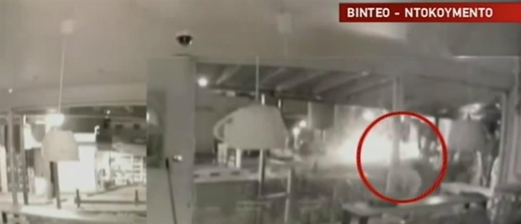 Καρέ-καρέ η εισβολή διαρρηκτών σε καφετέρια (βίντεο)