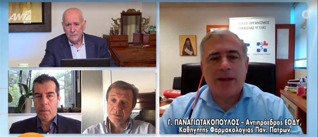 Παναγιωτακόπουλος στον ΑΝΤ1: τι ισχύει για τα εμβόλια του κορονοϊού και της γρίπης (βίντεο)