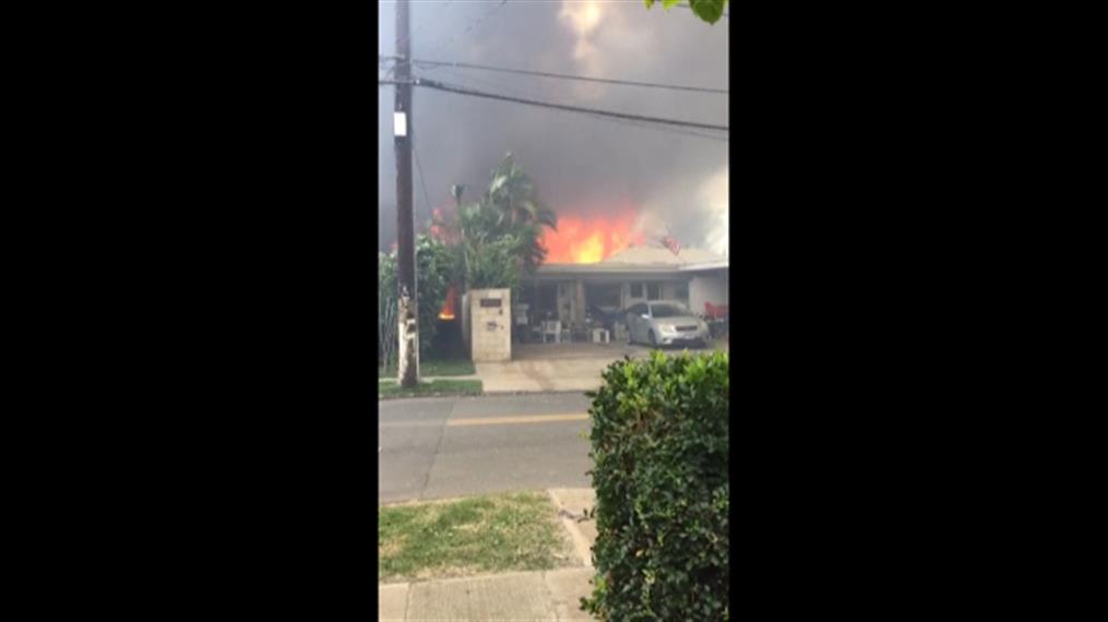 Φωτιές σε σπίτια μετά από πυροβολισμούς στη Χαβάη