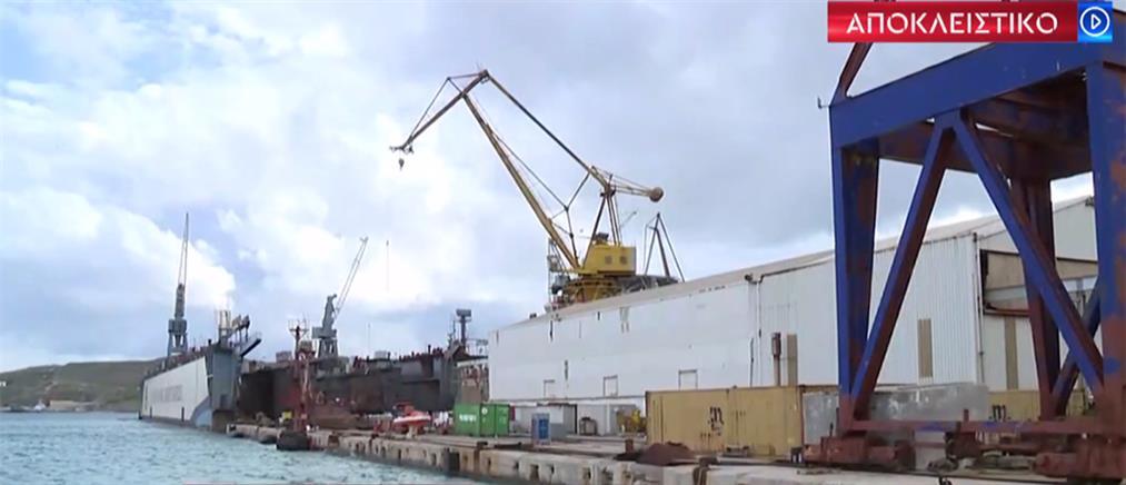 Αποκλειστικό ΑΝΤ1: Ναυπήγηση πολεμικών πλοίων στη Σύρο (βίντεο)