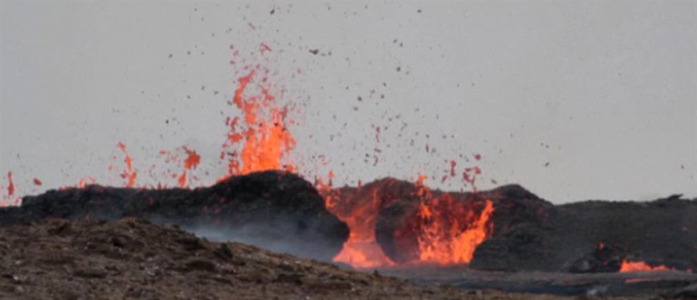Ισλανδία: βίντεο από drone πάνω από το ηφαίστειο