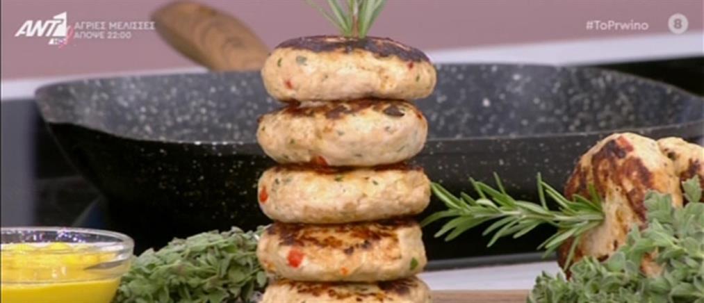 Συνταγή για μπιφτέκια γαλοπούλας από τον Πέτρο Συρίγο