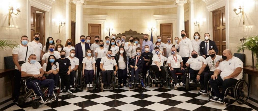 Παραολυμπιακοί Αγώνες: ο Μητσοτάκης υποδέχθηκε τους Έλληνες αθλητές (εικόνες)