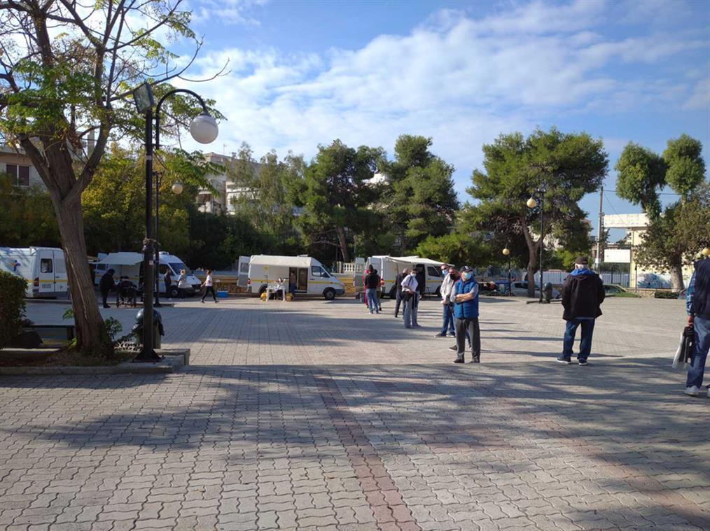 ΕΟΔΥ - έλεγχοι - rapid τεστ - πλατεία Ποντίων - Ελληνικό - Gallery