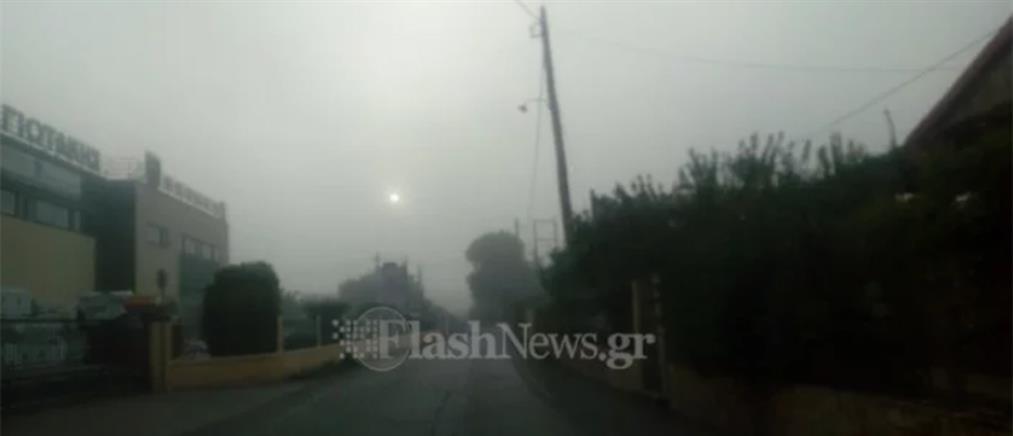 """Αφρικανική σκόνη και υγρασία """"σκέπασαν"""" τα Χανιά (φωτο)"""