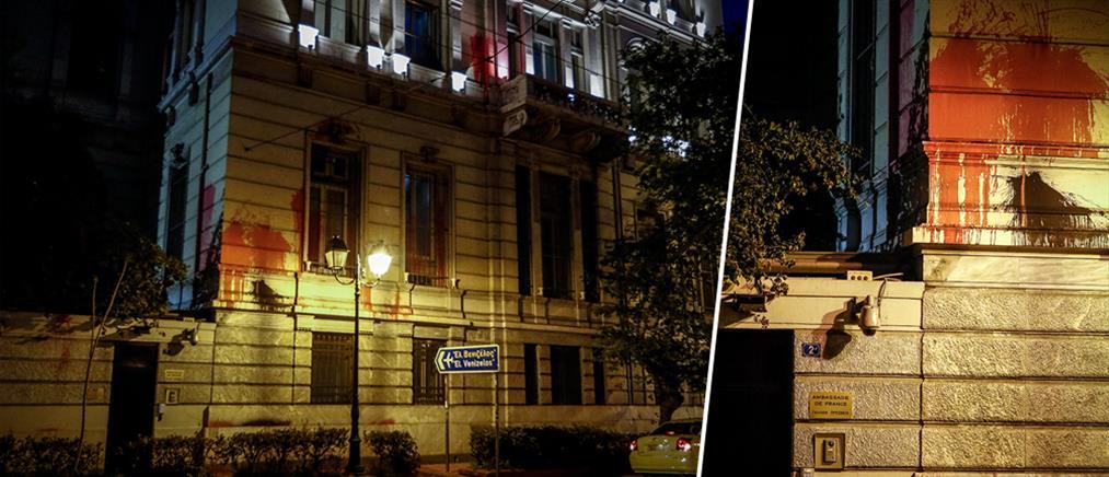 """""""Θύελλα"""" αντιδράσεων για την επίθεση του Ρουβίκωνα στην γαλλική πρεσβεία"""