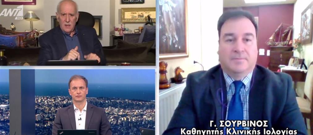 """Σουρβίνος στον ΑΝΤ1: ελπίζουμε ο κορονοϊός να κάνει """"διάλειμμα"""" το καλοκαίρι (βίντεο)"""