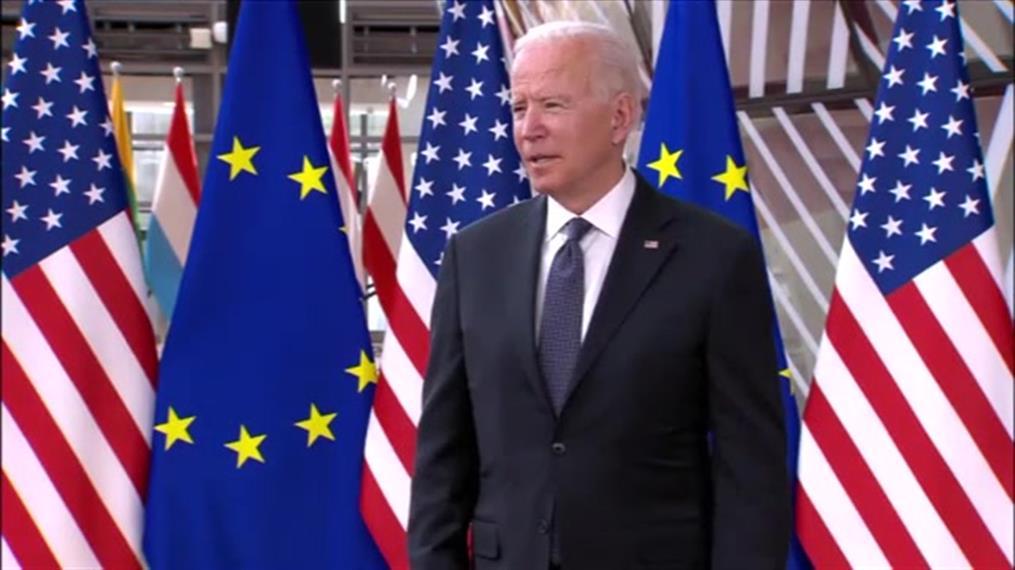 Άφιξη Τζο Μπάιντεν στη Σύνοδο ΕΕ - ΗΠΑ