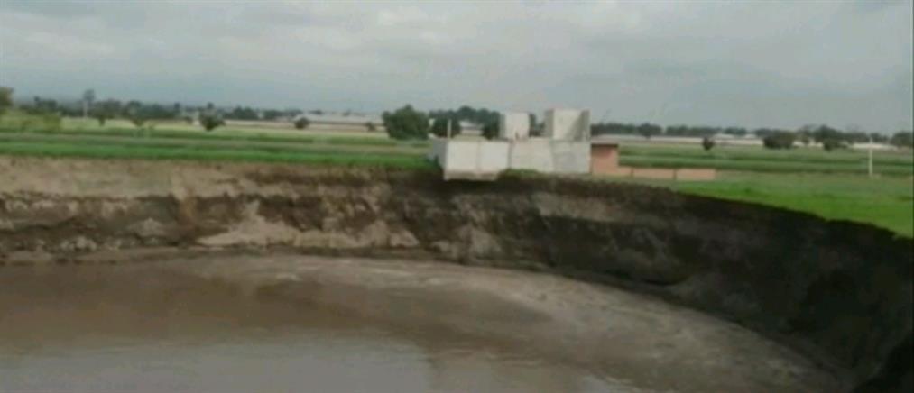 Μεξικό: Τεράστιος κρατήρας απειλεί αγροτική περιοχή (εικόνες)