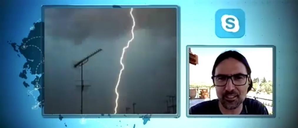 """""""Κυνηγός καταιγίδων"""" περιγράφει στον ΑΝΤ1 τον εφιάλτη που έζησε (βίντεο)"""