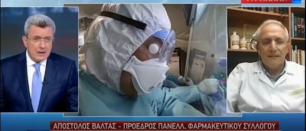 Βαλτάς στον ΑΝΤ1: σε ειδικά γκισέ και πίσω από τζάμια η εξυπηρέτηση στα φαρμακεία (βίντεο)