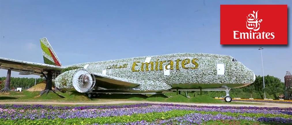 """Αεροσκάφος της Emirates """"ανθίζει"""" στο Dubai Miracle Garden (φωτό + βίντεο)"""