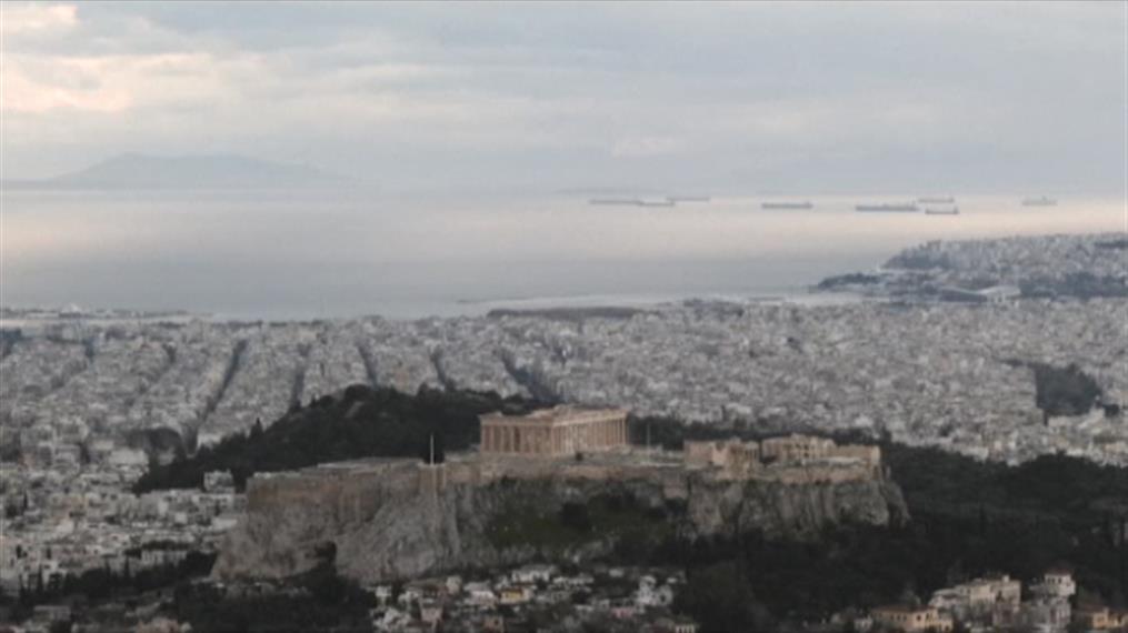 Time lapse βίντεο της άδειας Αθήνας