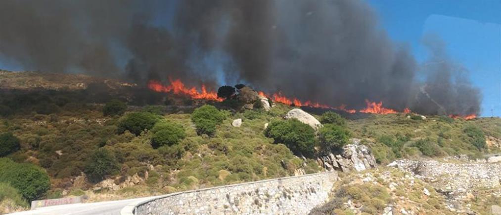 Μεγάλη φωτιά στην Νάξο (εικόνες)