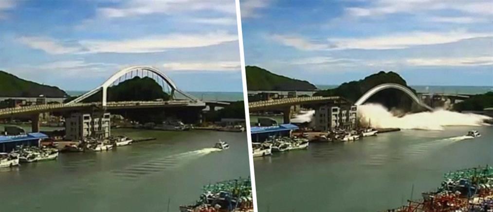 Γέφυρα κατέρρευσε και καταπλάκωσε αλιευτικά σκάφη (εικόνες)