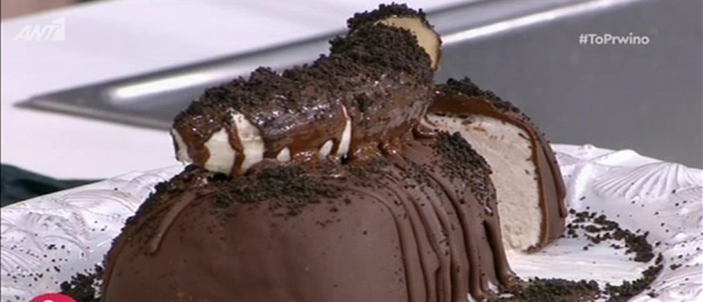 Παγωτό μπανάνα με επικάλυψη σοκολάτας από τον Δημήτρη Μακρυνιώτη