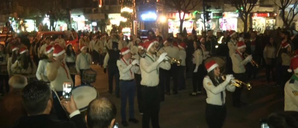 Χριστουγεννιάτικη παρέλαση στην Ανατολική Γούτα (βίντεο)