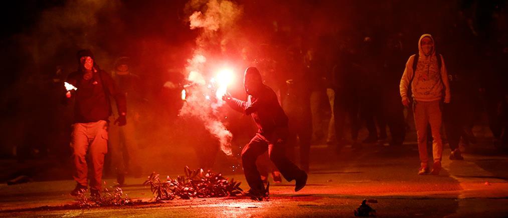 """""""Πεδίο μάχης"""" το κέντρο της Αθήνας (βίντεο)"""