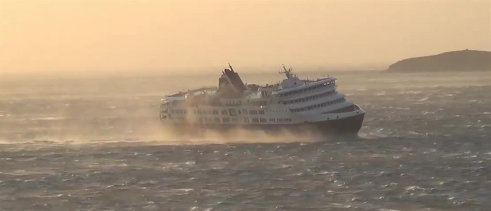 Προβλήματα στα δρομολόγια πλοίων λόγω των ανέμων