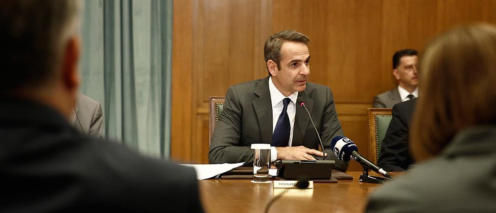 Η ομιλία Μητσοτάκη στο πρώτο Υπουργικό Συμβούλιο (βίντεο)