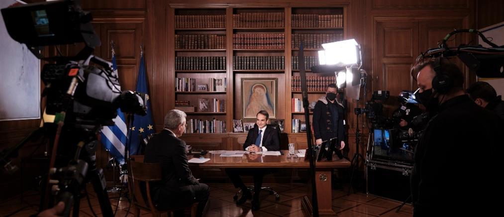 Η συνέντευξη του Κυριάκου Μητσοτάκη στον ΑΝΤ1 (βίντεο)