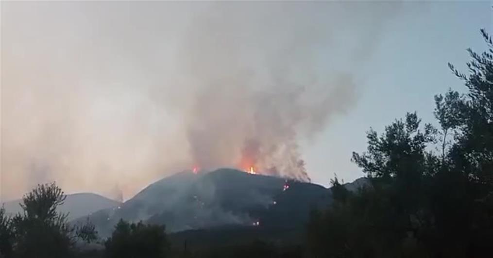 Μεσσηνία: Φωτιά στην περιοχή της Οιχαλίας