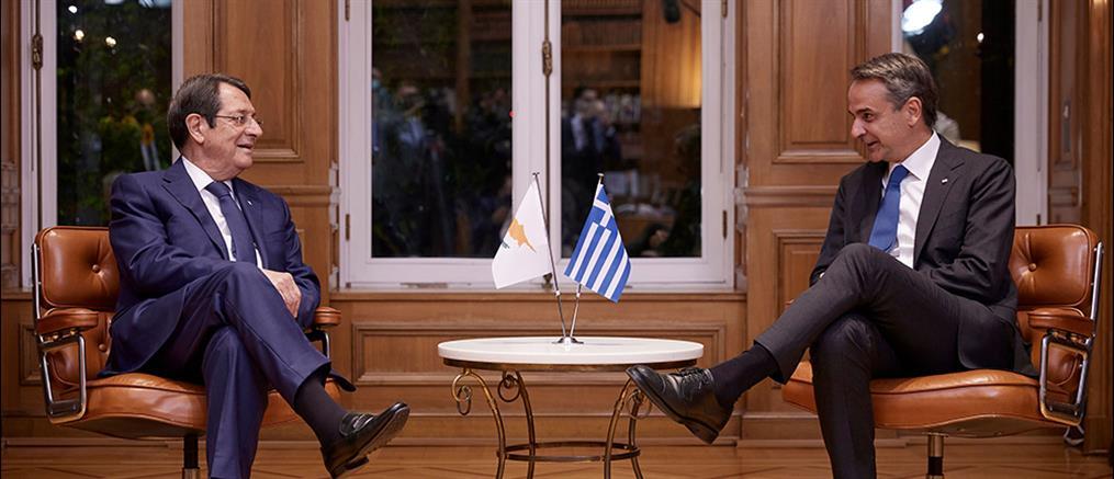 Μητσοτάκης - Αναστασιάδης για Κυπριακό: Λύση δύο κρατών δεν γίνεται αποδεκτή