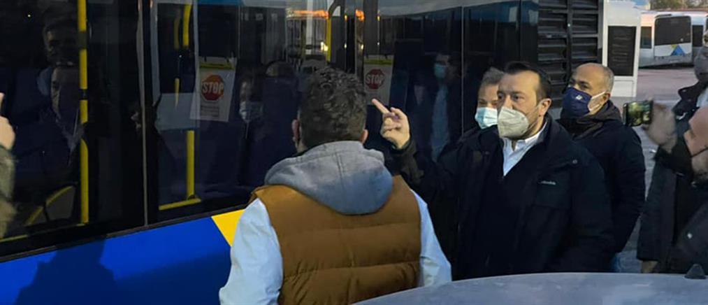 Παππάς: Τα μισά από τα νοικιασμένα λεωφορεία βγήκαν για δρομολόγια (εικόνες)