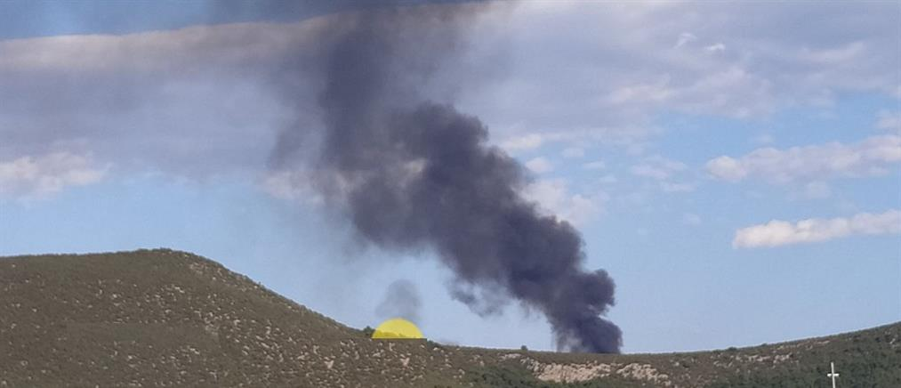 Χαλκίδα: φωτιά στον ΧΥΤΑ Χαραυγής