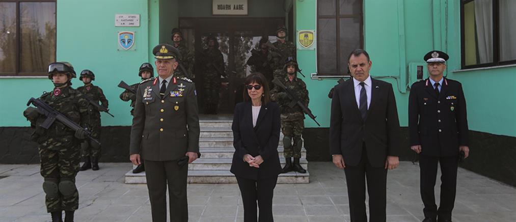 Καστανιές: Στο φυλάκιο του Έβρου η Κατερίνα Σακελλαροπούλου