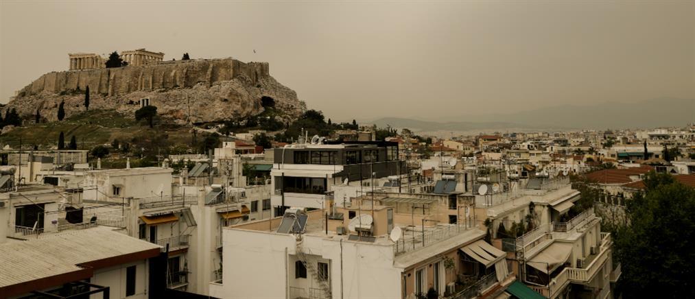 """""""Έπνιξε"""" την Ελλάδα η αφρικανική σκόνη (βίντεο)"""