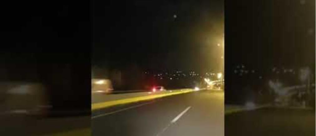 Οδηγούσε για χιλιόμετρα στο αντίθετο ρεύμα της Εθνικής (βίντεο)